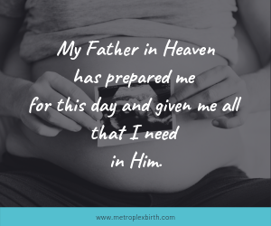 Christian birth affirmations and Bible verses